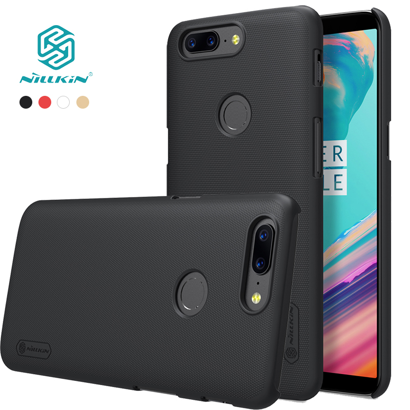 case for oneplus 5t cover 6.01'' NILLKIN Frosted PC hard back cover with Gift Screen Protector oneplus 5 t case One Plus 5T