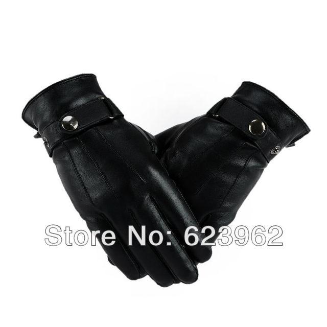 Good quality sheep skin men's winter warm gloves  M  L  XL