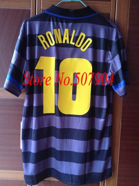 Retro Inter Ronaldo 1998 UEFA Cup Final Jersey Football Fans Souvenir  Soccer Accessories 7579d0542