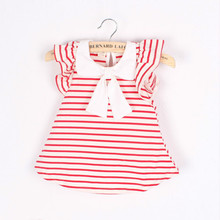 Baby Girls Floral Sling Bow Cartoon Strap Dress