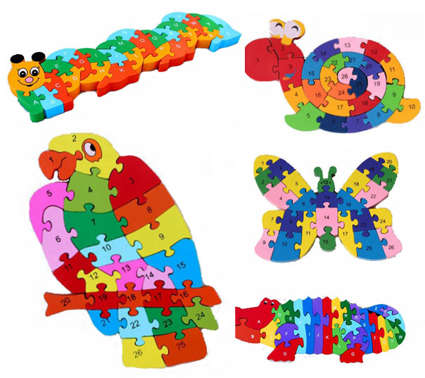 Double Sides Wooden Giraffe Thomas Train Puzzle Children s