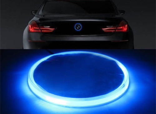 Бесплатная доставка новый 82 мм ксенон синий эмблема светодиодной подсветкой для E39 E46 3 серии 5 7 Х3 Х5 Х6