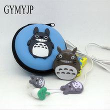 2017 nova Totoro Anime Esportes MP3 player de música com fone de ouvido e bolsa