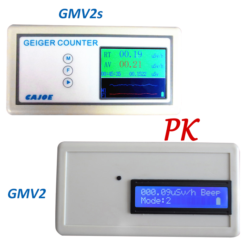 GMV2S Geiger Counter Nuclear Radiation Detector Personal Dosimeter Beta Gamma X-ray with Alarm 2.4 TFT LCD Radioactive Detector gmv2s geiger counter nuclear radiation detector personal dosimeter beta gamma x ray with alarm 2 4 tft lcd radioactive detector