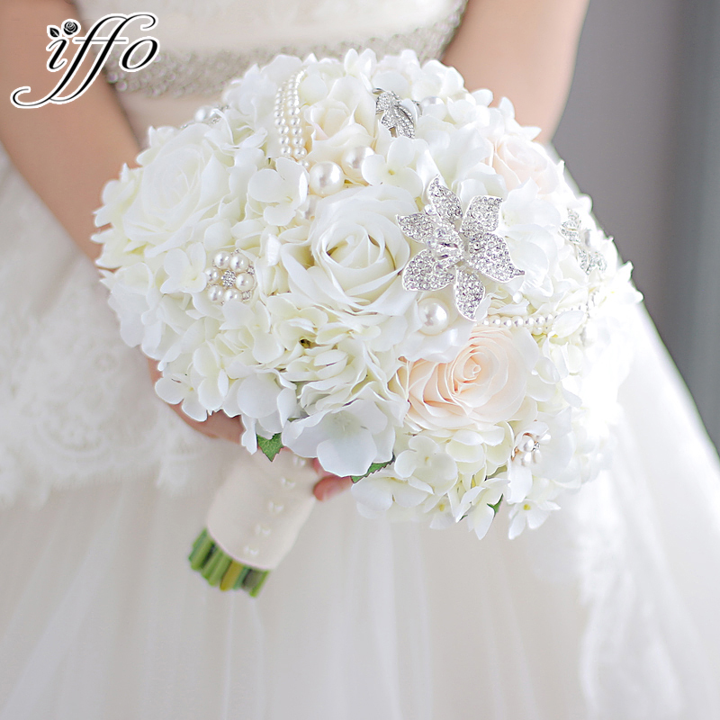 Diy Wedding Flower Bouquet: New Ivory &coral Wedding Bridal Bouquet Brooch Bouquet