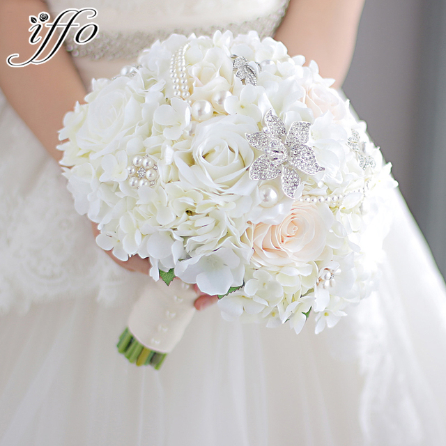 Aliexpress.com : Buy New ivory &coral wedding bridal bouquet brooch ...