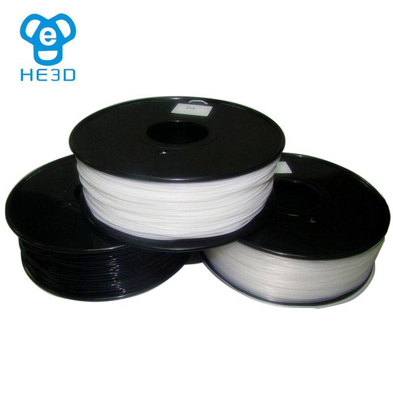 все цены на HE3D 3d printer material filaments PA Nylon 1.75mm 1kg/2.2lb Plastics Resin Consumables For MakerBot RepRap UP Mendel онлайн