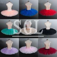 Frete Grátis Costurado Ballet Metade Tutu Saia Com Calças Várias Cores Criança/Adulto Tamanho Panqueca Ballet Para Venda H1005G