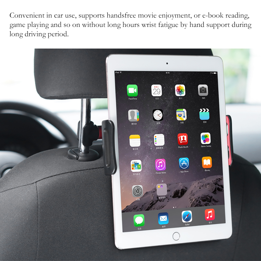 360 Rotation Car Rear Pillow Stand 4-11 Inch Tablet PC Phone Car Holder Stand Holder Mount For iPhone X 8 Mini iPad Tablet portable 5 level abs stand holder for ipad 2 ipod touch 4 iphone 3g 4 purple