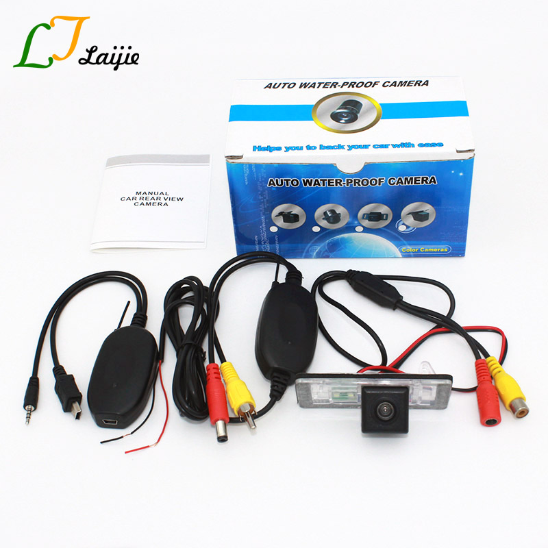 Laijie Auto HD Rear View Camera For Audi A3 S3 RS 3 Q3 RS3 RSQ3 (8V, 8U) / RCA AUX Wireless CCD Wide Lens Angle Parking Camera