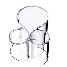 hot sale Acrylic Makeup Cosmetic Make Up Organizer Container Brush Clear Cylindrical Holder Storage Box