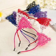 New Arrival Cute  Lace Cat Ear Headband Fashion Sexy Fox Hair Accessories for Women Girls Cosplay