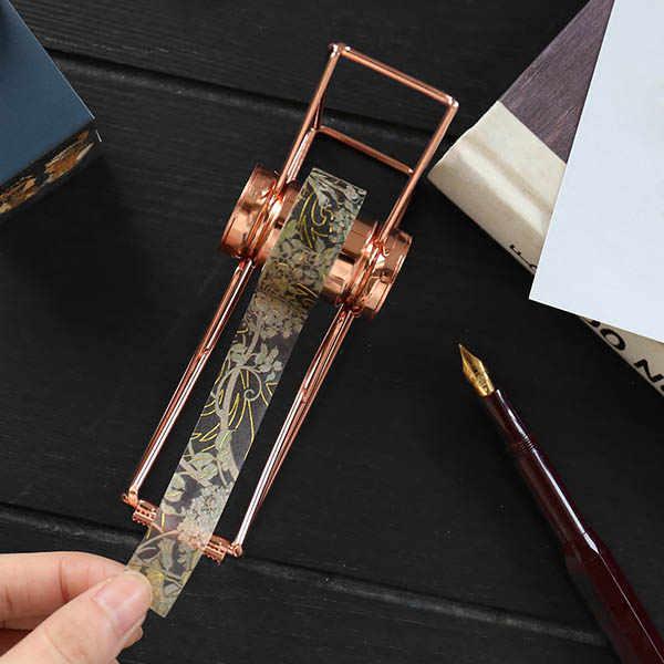 Máquina de cinta de escritorio de Metal dispensador de cinta escocesa para oficina Hogar Escuela LAD-venta