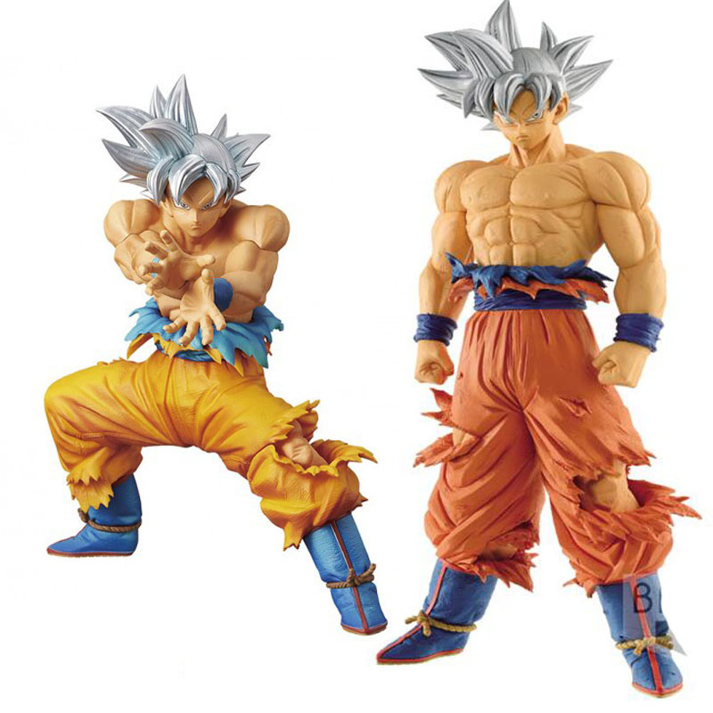 Dragon Ball Z ROS Super Saiyan Ultra Instinct Son Goku Silver hair Gokou Pvc Action Figure Collectible Model Toy 26CM dragon ball dxf the super warriors vol 3 super saiyan rose gokou black and vegetto pvc figure collectible model toys kt4201