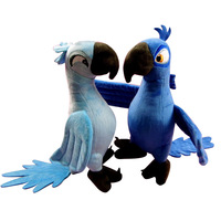 2 Colors Cute Rio Parrot Plush Toy Stand Up Amazon Parrot Doll Toy Stuffed Macaw Plush