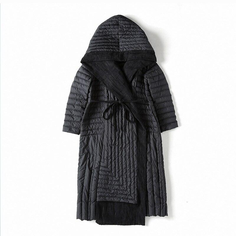 Le Vestes Outwear Parkas D'hiver Lumière Vers Bas Lâche Capuchon Épais Veste Noir S Style Manteau E25 De Longue Européenne Dames 2xl Mode À Femmes F5Wcq8cP