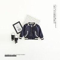 New Baby Boys Fashion Coat Jacket Children Spring Autumn Outerwear Cotton Jacket And Big Bird Coat