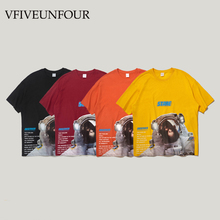 VFIVEUNFOUR 2019 New Arrival Astronaut Print Tshirts Streetwear Hip Hop Casual T Shirts Men Fashion Casual Short Sleeve Tops Tee недорого