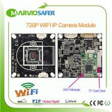 Marviosafer 720 P HD 1MP Высокой Четкости wi-fi ВИДЕОНАБЛЮДЕНИЯ Сети wi-fi Onvif IP Камеры Совета Модуль TF Слот Для Карты Diy Видеонаблюдения Cam