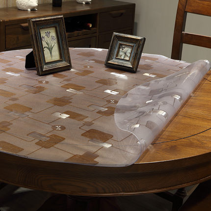 Table Runner On A Round Table.Us 14 25 16 Off 2017 New Pasayione Round Table Cloths Home Dining Room Tablecloth Disposable Pvc Table Runner Waterproof Table Cover 1 5mm Thick In