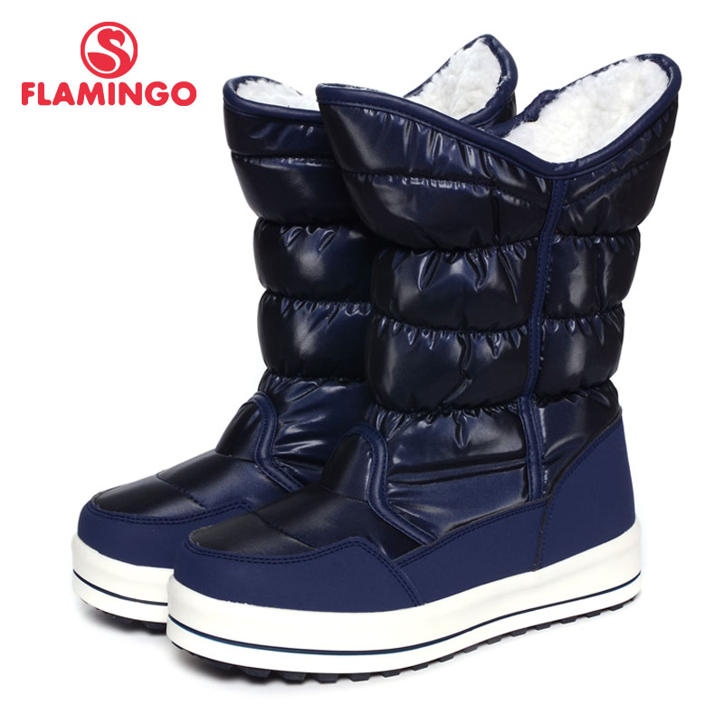 FLAMINGO 2016 new collection winter fashion snow boots with wool high quality anti-slip kids shoes for girl W6NQ062/W6NQ060 flamingo 2017 new collection winter fashion snow boots with wool high quality anti slip kids shoes for girl 72m yc 0430 0431