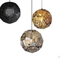 Dia 57cm Pendant Light Tom Dixon Punch Ball Etch Suspension Lamp Stainless Steel Silver Golden For Art Living room Pendant Lamps