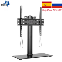 Universal TV Table Desk Stand TV Monitor Base Stand TV Desktop Floor Stand TV Stand with Mount for Home Office for 26'' 55''