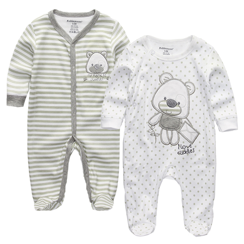 Top Quality Baby Girls Boys Clothes O-Neck Cartoon 100%Cotton Long Sleeve Baby Rompers Jumpsuits 0-12M infant product