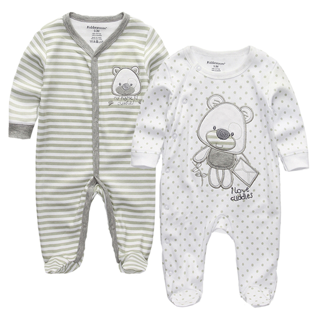 28d62642d2dbe Top Quality Baby Girls Boys Clothes O-Neck Cartoon 100%Cotton Long Sleeve  Baby Rompers Jumpsuits 0-12M infant product