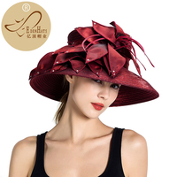 Kentucky Derby Hat Womens Knit Formal Church Visor Dark Grey Hat Braided Hat and Races PP hatS10 4269