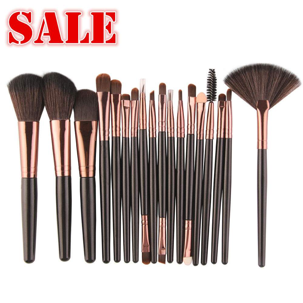 ISHOWTIENDA 18pcs Hot Professional Makeup Brushes tools Make-up Toiletry Kit Wool Make Up Brush Set Black 15 Pincel maquiagem все цены