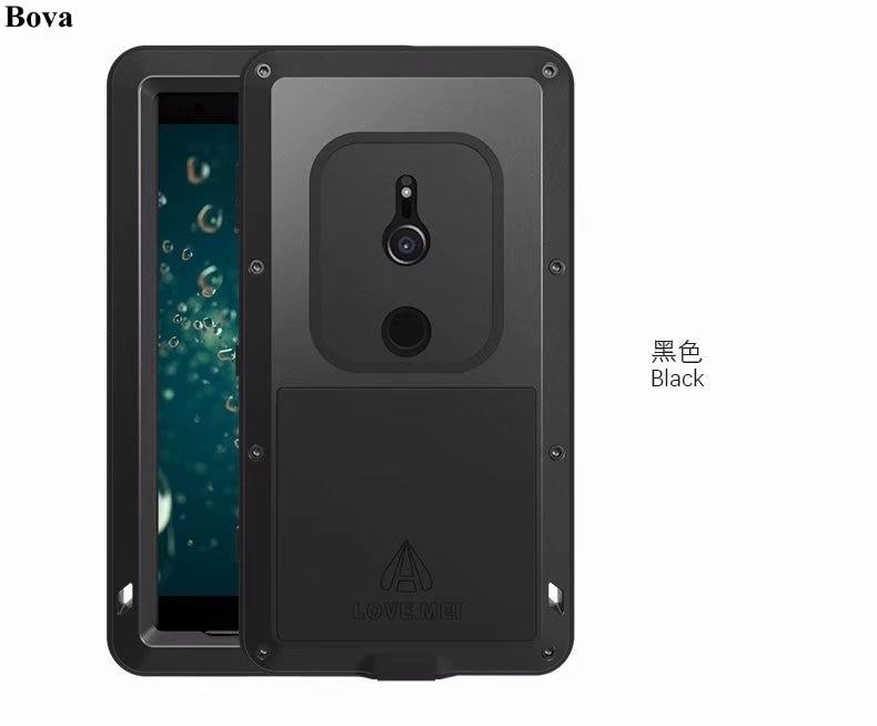 Coque étanche originale Love Mei pour Sony Xperia XZ2/XZ2 coque robuste antichoc compacte en aluminium