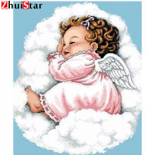 "DUTEY 5D DIY Full Drill diamond painting ""sleeping angel baby"" 3d embroidery cross stitch rhinestone mosaic home decor(China)"