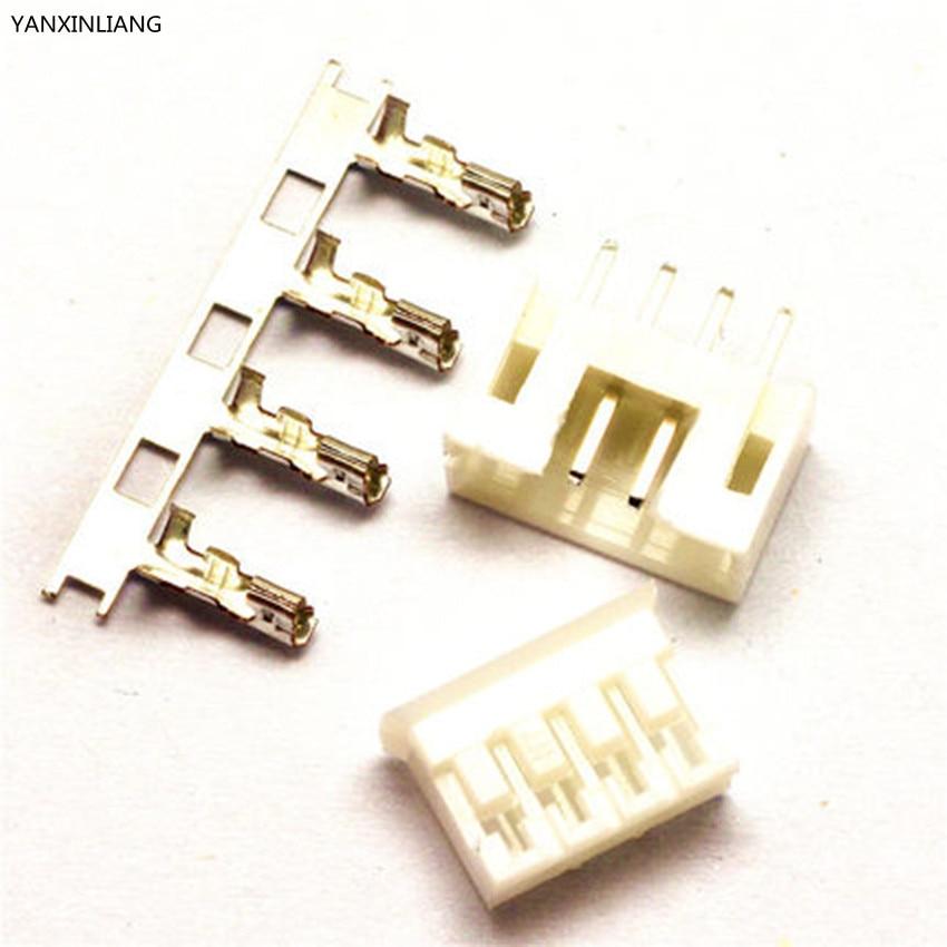 50sets PH2.0 4Pin Connector Kit Pitch 2.0mm Pin Header+Terminal+Housing