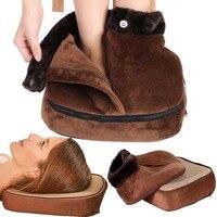 Electric Heated Foot care shoe Warmer tool pad Cosy Unisex Velvet Feet Warmer Massager Big Slipper Foot Heat Warm Massage Shoes