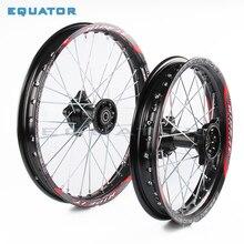 Черный 12 мм 15 мм передний 1,60x17 дюймов задний 1,85x14 дюймов алюминиевый сплав обод колеса для 160cc 150CC Dirt Pit bike 14 17 дюймов колеса