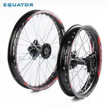 Negro 12mm 15mm frente 1,60x17 pulgadas trasero 1,85x14 pulgadas aleación de aluminio llanta para 160cc 150CC Dirt bike 14 17 pulgadas rueda