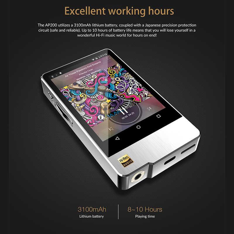 Hidizs AP200 Android Bluetooth 5.1 HiFi Muziekspeler 64G geheugen 3.54 'IPS Dubbele ES9118C DAC DSD PCM FLAC MP3
