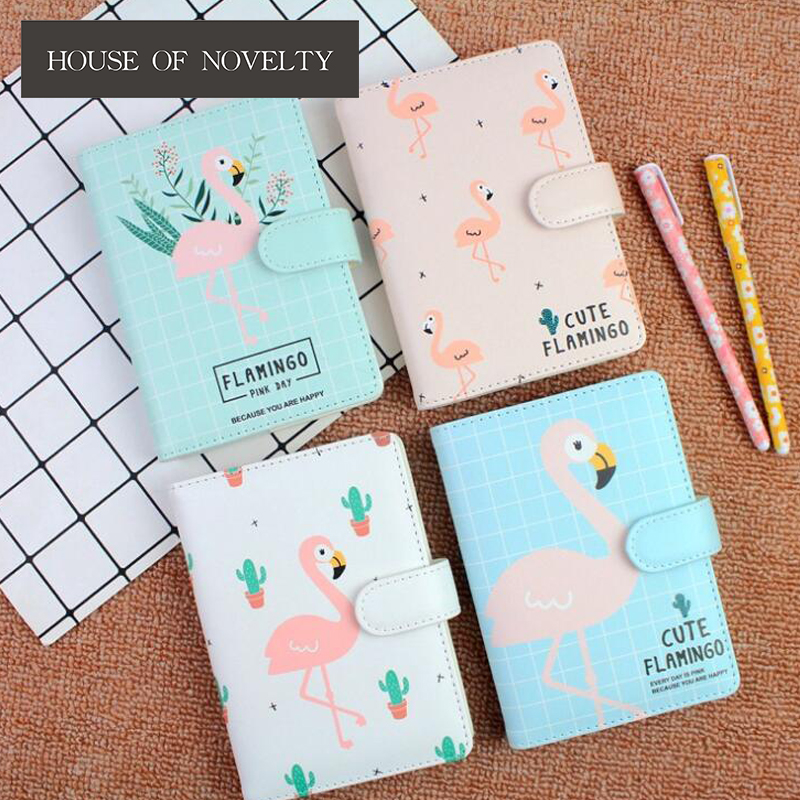 Cute Flamingo Hardcover Notebook Diary Pocket Notepad Promotional Gift Stationery