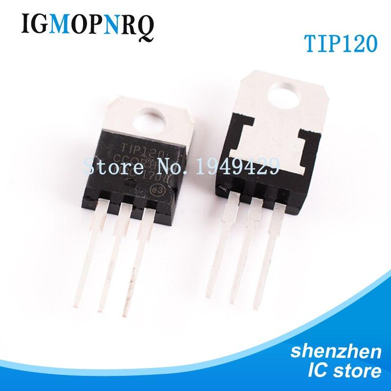 10PCS/lot TIP120 TIP120 TO-220 Darlington Transistor NPN  Darlington New Original
