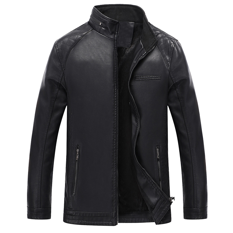 Besting Sales Men Leather Suede Jacket New Fashion Motorcycle Jacket Male Slim Fit Zippers Black Men Leather Coats Big Size 6XL