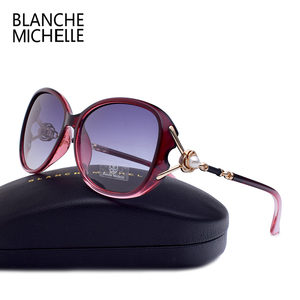 Image 4 - Blanche Michelle 2019 High Quality Polarized Sunglasses Women Brand Designer UV400 Gradient Sun Glasses Pearl oculos With Box