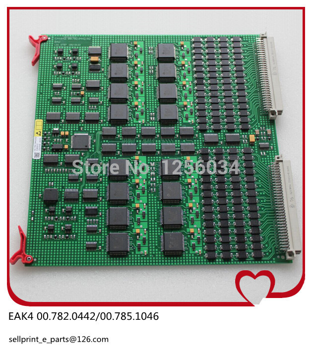 FREE SHIPPING 1 piece EAK4 printing board for heidelberg machine 00.785.0770/00.782.0442/00.785.1046 printing EAK4-2 card 1 piece heidelberg slt con circuit board gnt6029193p1 printing board for offset machine gnt 6029 193p1