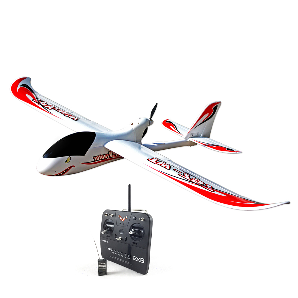 Volantex FPV Raptor 1.6M RC RTF Glidler Plane Model W/ Motor Servo ESC Battery volantex super decathlon rc rtf plane model w brushless motor servo esc battery