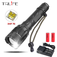 XHP70 LED Flashlight 40W Chip 40000Lumes XHP50 Convoy Lens Powerful 26650 Battery Tactical LED Flash Light Rotary Zoom LED Torch