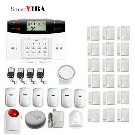 SmartYIBA GSM Home Security Burglar Alarm System Intelligent Digital Voice Announcer Wireless Smoke Detector Gas Detector AlarmSmartYIBA GSM Home Security Burglar Alarm System Intelligent Digital Voice Announcer Wireless Smoke Detector Gas Detector Alarm