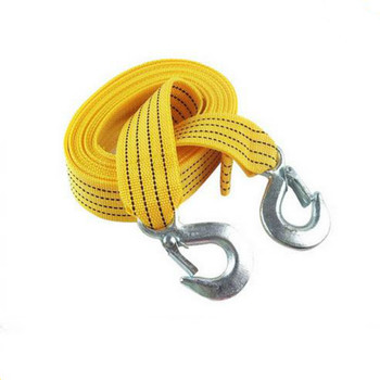 4M Heavy Duty 5 Ton Car Tow Cable Towing Pull Rope Strap Hooks Van Road Recovery