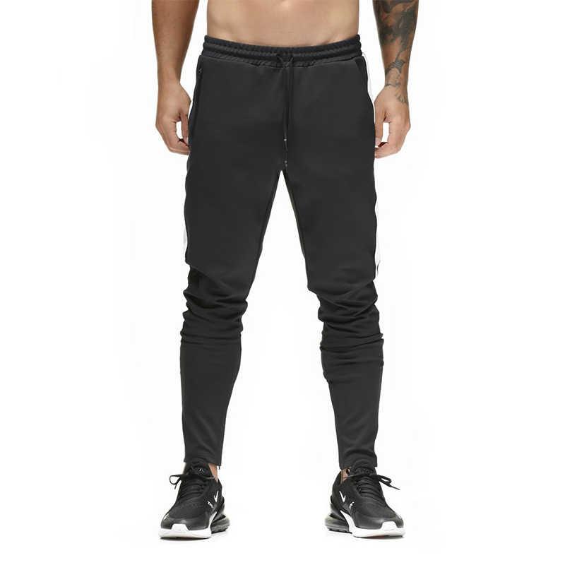 Мужские брюки для пробежек 2018 летние новые мужские тренировочные брюки для отдыха хлопковые мужские s джоггеры повседневные спортивные брюки мужские тренировочные облегающие брюки