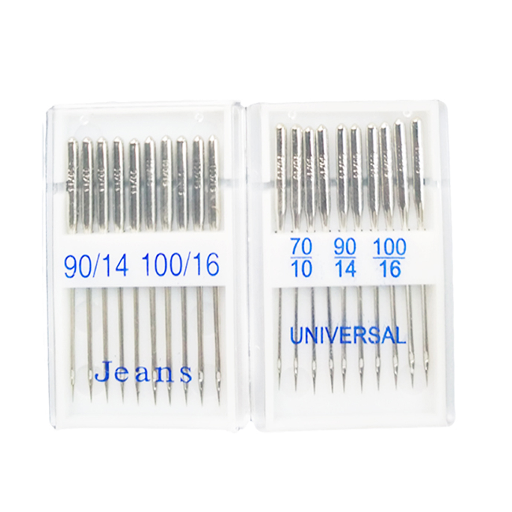 20Pcs Mixed Size Jeans Universal Sewing Machine Needles Domestic Stainless Steel Sewing Needles Sewing Machine Accessory