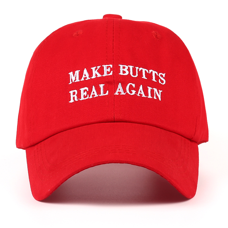 VORON new MAKE BUTTS REAL AGAIN dad hat men women Cotton baseball cap UNSTRUCTURED NEW - RED 2017 fashion papi unstructured baseball dad hat cap new men women cotton adjustable baseball cap black